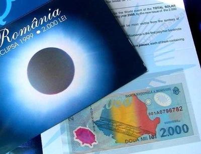 ~ Румыния ??? тысячи Лей 1999 солнечное Затмение + ПАПКА