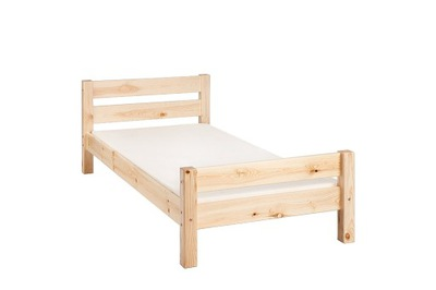 Łóżko drewniane Flori 90x200 natura +stelaż zag.