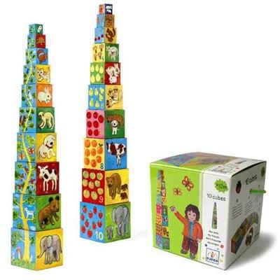 DJECO Super piramidka wieża ZWIERZĘTA 12 miesięcy