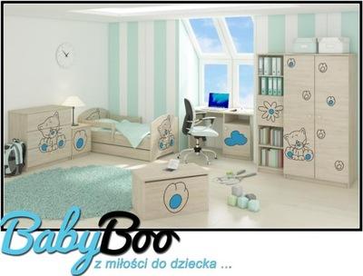 Set detský NÁBYTOK, posteľ 160x80 7 PRVKOV