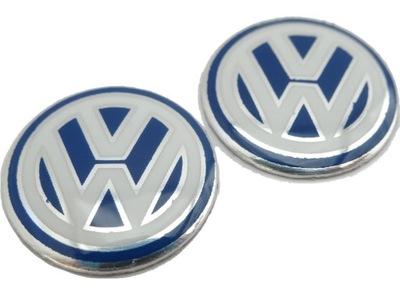 ЛОГОТИП наклейка VW 14мм Ключ Эмблема алюми 2шт