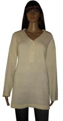 extra tunika-sweter śmietankowy,nowy 48/50