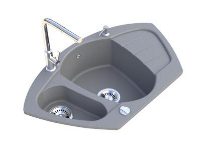 Žulový rohový drezový faucetový buldozérový sifón