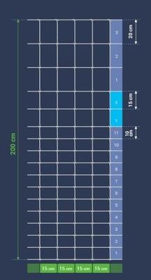 SIATKA LEŚNA 200/17/15 M AS (ocynk 215g/m2)   50mb