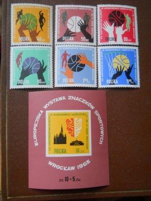 Polska -  ME w koszykówce - Fi. 1270-75 + bl.39 **