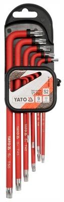 YATO YT-0563 KĽÚČE 9PCS KĽÚČ TORX NASTAVIŤ TORXY