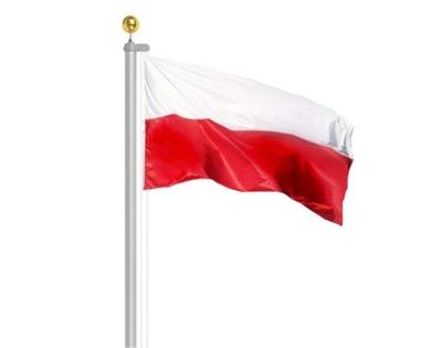 Флагшток Алюминиевый Флагман 6м + польский  флаг