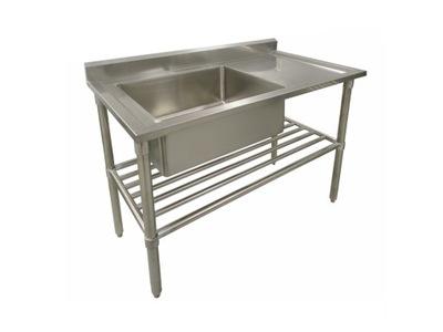 раковина  общественного питания стол Нержавеющий 120 х 60 см