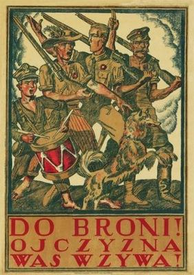 Plakat patriot. Do Broni! Ojczyzna was wzywa! 1920
