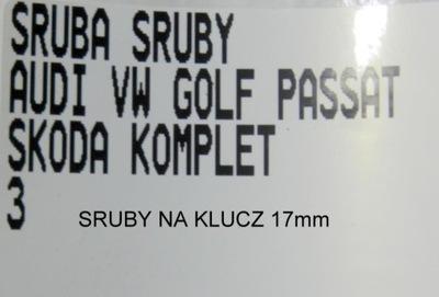 болт болты дисков 17 audi vw golf passat, фото 2