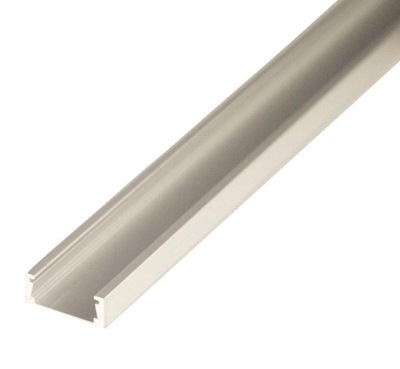 ПРОФИЛЬ - лента LED alu анод 8 10 мм 1м плафоном клик