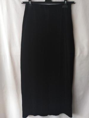 spódnica czarna aksamitna maxi rozm.3638