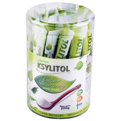 Ксилит, сахар, березовый пакетики 40x5g Сантини