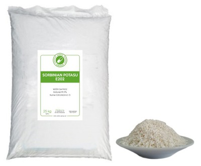 Калия сорбат 25 кг гранулы 100 % E202