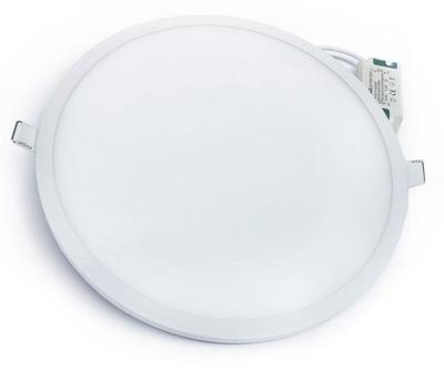 Lampa, luster, svietidlo -  PANEL LED PODTYNKOWY SUFITOWY 24W CIENKA RAMKA