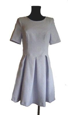 221572d623 MOHITO rozkloszowana sukienka WESELE kontrafałdy S - 7523818700 ...