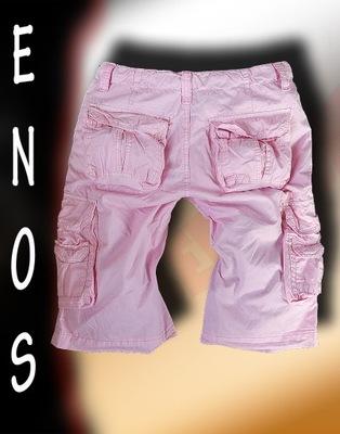 ENOS P9026 - szorty bojówki - różowe - rozmiar 36*