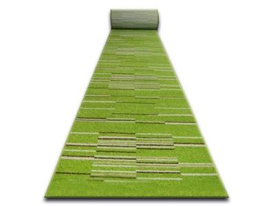 CHODNÍKU KARAMEL 60 NELI-zelené PRUHY PÁSKY *Q995