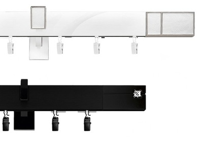 Карниз алюминиевый объем SQUARE 160 см Черный Белый