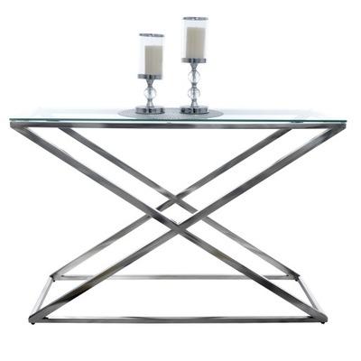 Столик Консоль Хром стекло 120x40 MODERN DESIGN
