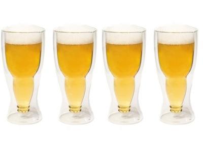 Pivo hrnčeky poháre piva Pivo 4pcs Darček