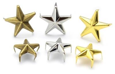 БЛЕСТКИ , заклепки звезды . Три размеры , три цвета!