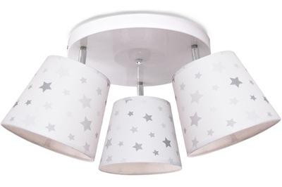 Svietidlá do detskej komory - stropné svietidlo / prívesok svetlo HVIEZD 3 odtieň