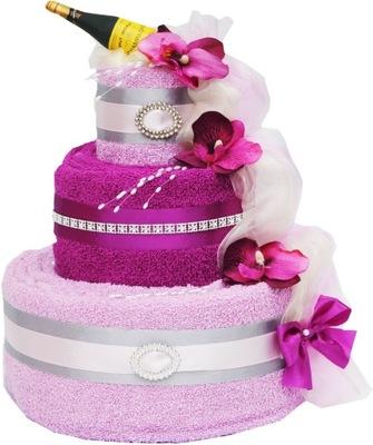 ТОРТ с 4 БОЛЬШИХ полотенец подарок свадьба юбилей