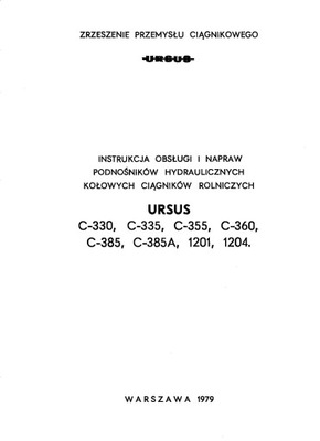 ИНСТРУКЦИЯ РЕМОНТА PODNOSNIKOW C-360 C-385 1201