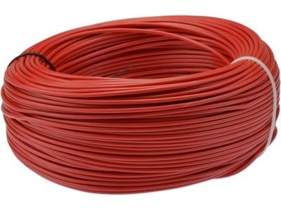Kábel, drôt, kábel LGY 1,5mm2 červená 100m