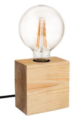 Lampa stołowa loft drewno Balzan Mini MABRILLO