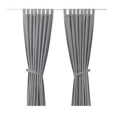 IKEA LENDA záves s kravatu 140x300 gray 2 Ks
