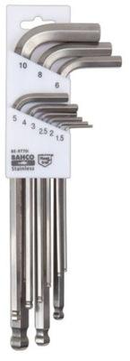 BAHCO Kľúče, imbusy skvelé s nehrdzavejúcej OCELE loptu 1,5-10 mm