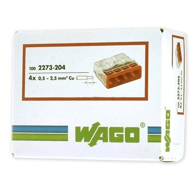 WAGO rýchly konektor PRE kábel 4x0,5-2,5mm2 100ks