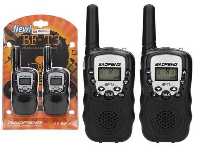 vysielačky WALKIE-TALKIE BAOFENG BF-T3 PMR ZP2