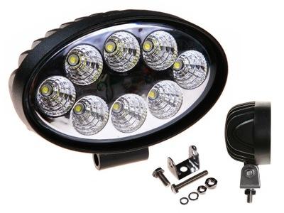 Лампа галоген рабочая 8x3W LED 12 /24V