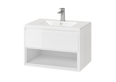Set do kúpeľne a WC - EXCELLENT TUTO skrinka s umývadlom 70 cm biela / biela