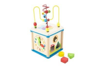Detský labyrint - Vzdelávací triedič na manipuláciu s drevenými kockami