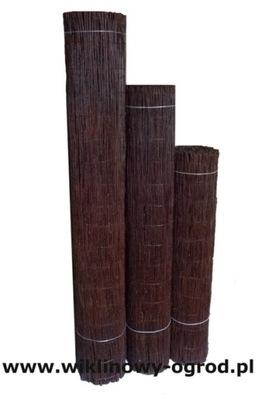 Prútený dekoračný plot - Mata Wiklinowe 2/3 m Impregnované palisandrové drevo