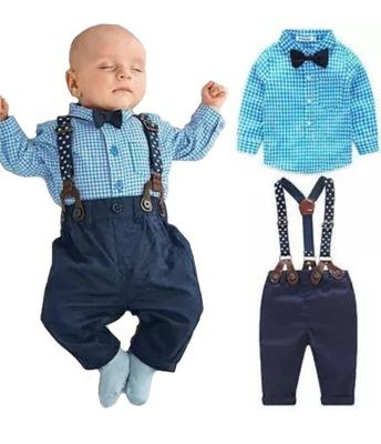 cc1a93c5d237c Nowy garnitur mucha szelki koszula spodnie 92 - 7682593072 ...