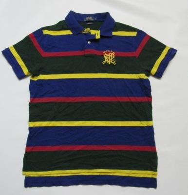 8f79da027 W Ralph Lauren Koszulka Polo Męska Paski roz M - 6674501812 ...