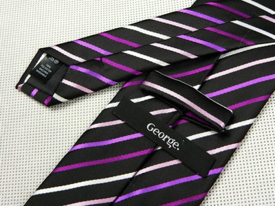 AAK35 Elegancki krawat męski GEORGE