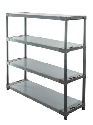 Regál - polica -  Skladovací stojan ako kovový Titanium-4 138x150x46