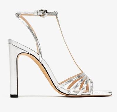 9f27d8ee9a1cdf zara szpilki sandały 36 beżowe biżuteria nowe - 6148372768 ...