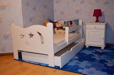 Śliczne łóżko dziecięce 160x80 białe