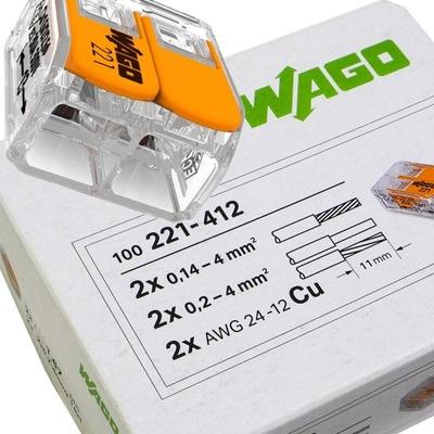 rýchle spojky elektrické 2x2,5 WAGO 221-412 100sz
