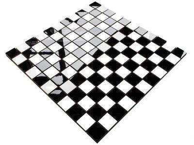 Мозаика Керамическая черная белая шахматная доска 30Х30