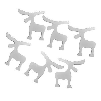 BN JELEŇ - WHITE - DREVENÉ - 6 KUSOV-MIX