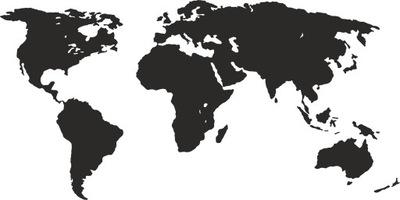 шаблон малярный на стену карта мира 100x200 см
