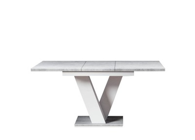 ?????????? стол 120 - 160 Белый / бетон +